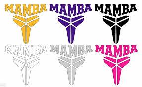 Kobe Bryant Black Mamba Decal Logo Car Laptop Tumbler Decal Sticker Set Of 2 Oracal Losangeleslakers In 2020 Kobe Bryant Black Mamba Black Mamba Mamba