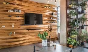 10 unique living room wood accent walls