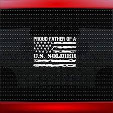 Amazon Com Noizy Graphics Proud Army Dad 3 Soldier Family Mom Usa Car Sticker Truck Window Vinyl Decal Color Matte Black Automotive