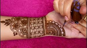 mehndi design easy full hand front