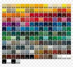 color chart auto paint colour code