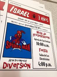 Invitacion Para Nino Tematica De Spiderman Una Manera Divertida