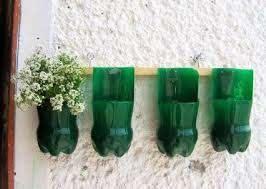 flower pots out of plastic bottles