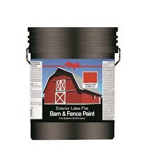 5 Gal Red Exterior Barn And Fence Paint Visual Motley