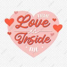 flat design true love is inside me