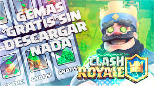PARCHADO) ¡COMO CONSEGUIR GEMAS GRATIS SIN DESCARGAR NADA EN CLASH ROYALE Y  CLASH OF CLANS! - YouTube
