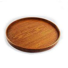 large round serving tray com