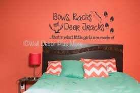 Bows Racks Deer Tracks Girls Are Made Of Hunting Wall Letters Quotes Vinyl Decal Stickers