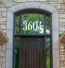 Custom Transom Window Numbers Vinyl Decal 3 To 10 Tall Home Address House Door Office Die Cut Sticker Clarendon
