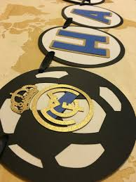 Real Madrid Birthday Banner Banderines De Cumpleanos Banner De