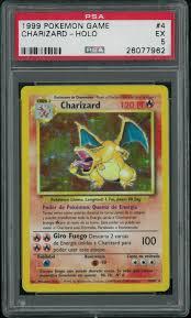 Pokemon Base Set Unlimited SPANISH Charizard 4/102 PSA 5