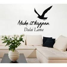 Shop Quote Make It Happen Sea Gull Words Vinyl Sticker Home Birds Art Mural Interior Design Sticker Decal Size 33x39 Color Black Overstock 14743594