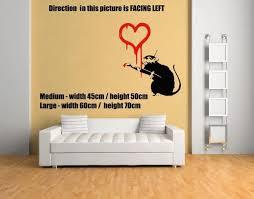 Banksy Graffiti Love Rat Wall Sticker Wall Stickers For Kdis Rooms Wall Decals Vinyl Stickers Home Decor Wall Sticker Stickers Forvinyl Stickers Aliexpress