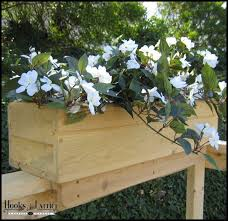Can Make These 3 For Side Fence Shallow Or Dirt Too Heavy Size To Fit Standard Pot Or Find Plastic Lo Railing Flower Boxes Wooden Flower Boxes Flower Boxes