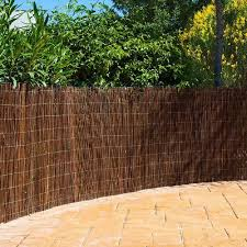 Premium Air Dried Natural Willow Screening Fence 4m Long