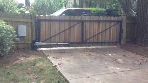 Privacy Gate With Steel Frame Swing Gate Operated Or Automatic Youtube