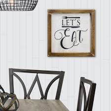 Winston Porter Let S Eat Whitewashed Wood Sign Farmhouse Wall Decor Reviews Wayfair