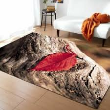 Large 3d Carpets Green Leaf Vein Rug Bedroom Kids Room Play Mat Area Rugs Carpet Ebay