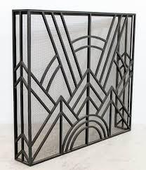 neo art deco wrought iron metal