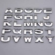 Car Sticker 3d Metal English Letters Number Decal Diy Alphabet Chrome Emblem Inscriptions Letter On Cars Suv Truck Car Stickers Aliexpress