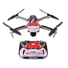 Shark Camouflage Pvc Decal Skin Sticker For Dji Mavic Air 2 Drone Body Protection Film Remote Controllers Battery Skins Camera Drone Decals Aliexpress