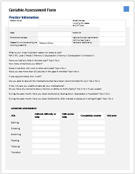 geriatric essment form pdf ms word