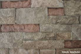 diy faux stone wall aka the best thing