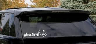 Mom Life Car Decal Mom Car Decal Mom Car Sticker Etsy