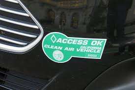 Second Attempt At Renewal For California S Clean Air Vehicle Decal Program News Planetizen