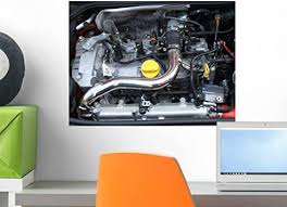 Amazon Com Wallmonkeys A View Of A Motor Car Engine Wall Decal Peel And Stick Graphic Wm18949 18 In W X 14 In H Home Kitchen