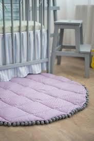 Purple Round Play Mat Kids Room Decor Nursery Gym Activity Etsy