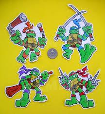 Ninja Turtles Vinyl Stickers Set 4 Decals Tmnt Leonardo Raphael Mikey Donatello Ebay