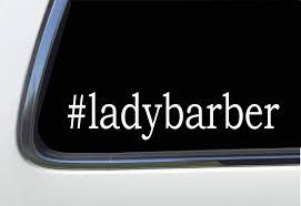 Amazon Com Thatlilcabin Ladybarber As1563 8 Hair Decal Automotive