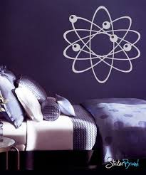 Atom Wall Decal Electrons Protons And Neutrons Perfect For Science School Decor Physics 389 Vinyl Wall Decals Wall Decals Wall Decal Sticker