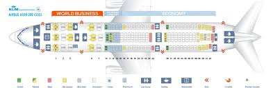 klm airbus a330 200 seating chart