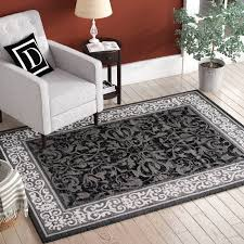 jeppesen grey white black area rug