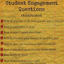 student engagement questions studentengagement activities