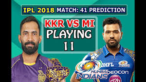 KKR VS MI Match Prediction IPL 2018 ...