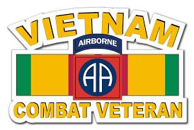 82nd Airborne Division Vietnam Combat Veteran With Ribbon 10 Die Cut Vinyl Decal Sticker