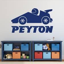 Wall Decal Boy Race Car Transportation Theme Custom Name