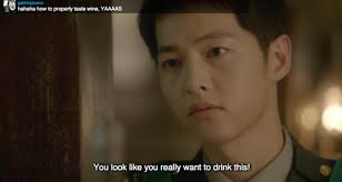 """lines by song joong ki in """"descendants of the sun"""" that you"""
