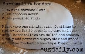 how to make marshmallow fondant suz daily