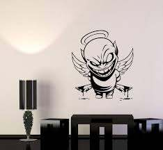 Wall Vinyl Sticker Decal Demon Angel Contrast Life Death Good Evil Bad Wallstickers4you