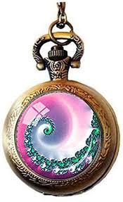 fibonacci spiral pendant pocket watch