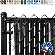 Amazon Com Ridged Slats Slat Depot Single Wall Bottom Locking Privacy Slat For 3 4 5 6 7 And 8 Chain Link Fence 4ft Black Garden Outdoor