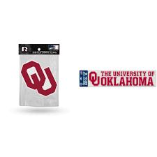Oklahoma Sooners Official Ncaa Car Window Cling Decal And Die Cut Car Decal Bundle 2 Items Walmart Com Walmart Com