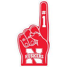 3 Nebraska Husker 1 Hand Vinyl Decal Wesellspirit Com