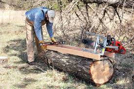 use a portable sawmill to make your own