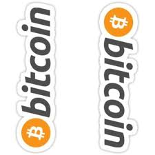 2pcs Bitcoin Symbol 4inch Cryptocurrency Digital Decal Sticker For Use On Laptop Helmet Car Truck Motorcycle Bitcoin Wall Stickers Murals Door Decals