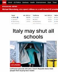Coronavirus, l'Italia è prima notizia di Cnn e Bbc per le scuole ...